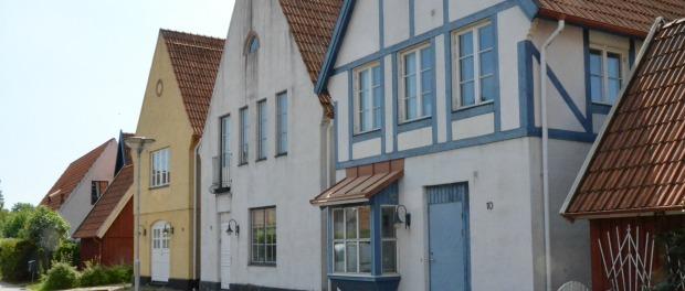 Tre av husen på Bo97 är av medeltidskaraktär. Bild: Magnus Ornhammar.