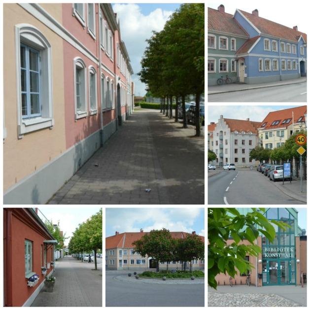 Storgatan kantas av olikformade hus och ett annorlunda småstadsansikte. Bild: Magnus Ornhammar